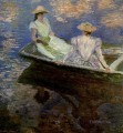 Young Girls in a Row Boat Claude Monet